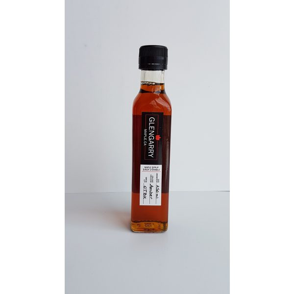 Glengarry Maple small batch pure amber maple syrup 250 ml