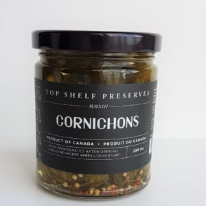 Top Shelf Preserves cornichons 250 ml jar